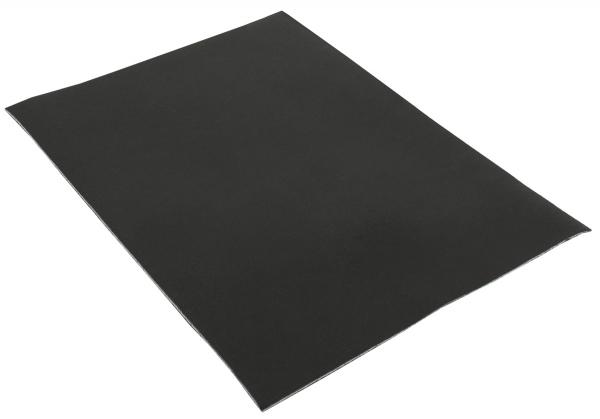 Schwarz Lederstück aus Rindsleder