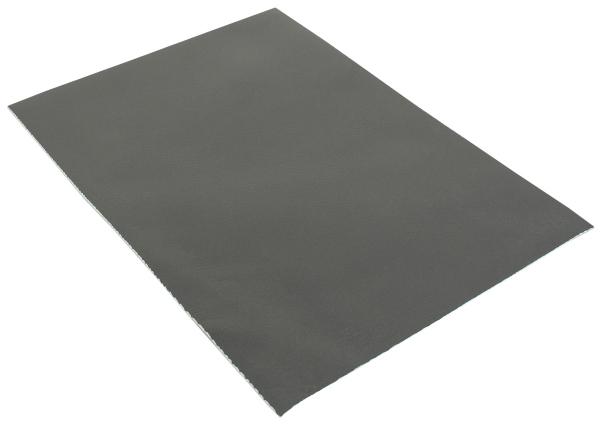 Pezzo di pelle grigia di vacchetta in formato A5
