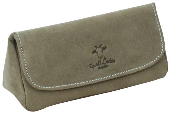 Büffelleder Pfeifentasche in grün
