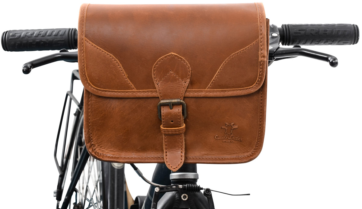 Gusti Cuir /'Connie/' Boissons Support pour vélo en cuir Support Sac en cuir vintage