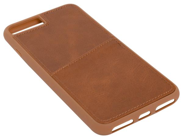 Leder-Case in braun für iPhone 8