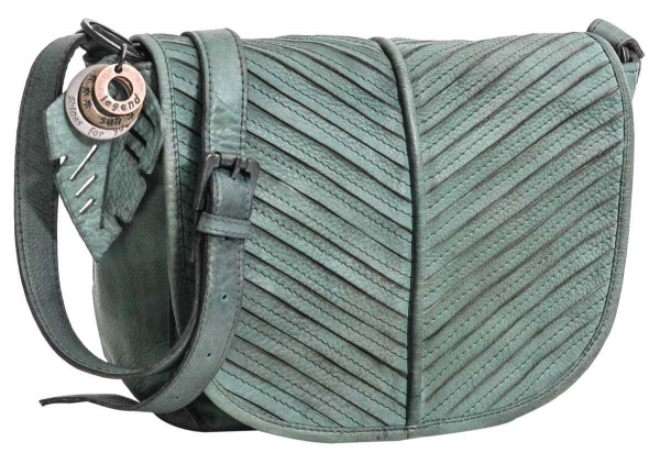 Legend Leder-Handtasche in grau