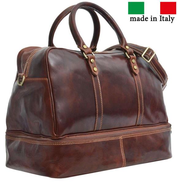 Braune Reisetasche aus italienischem Leder