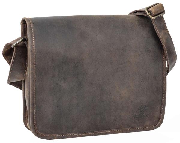 Braune Leder-Schultertasche