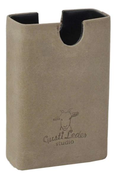 Grüne Büffelleder Zigarettenbox
