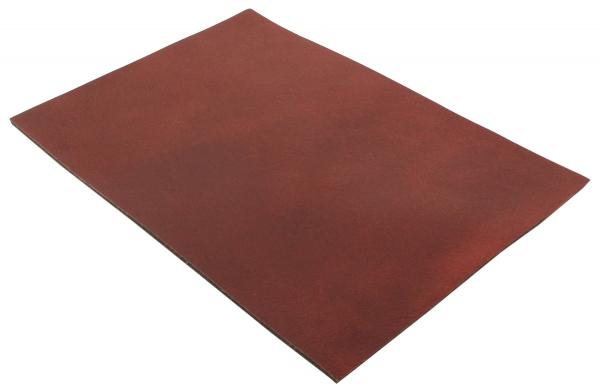 Läderstycke A5 rött Buffelläder