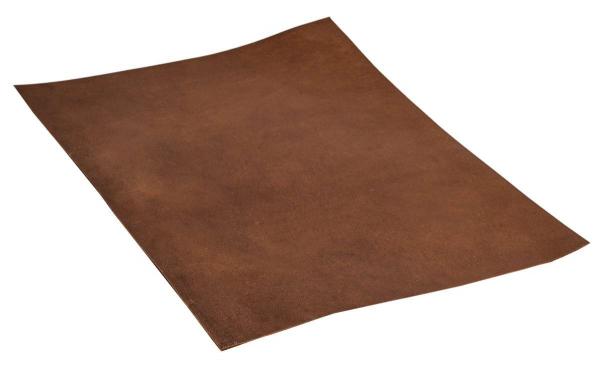 Braunes Stück Büffelleder Größe A4