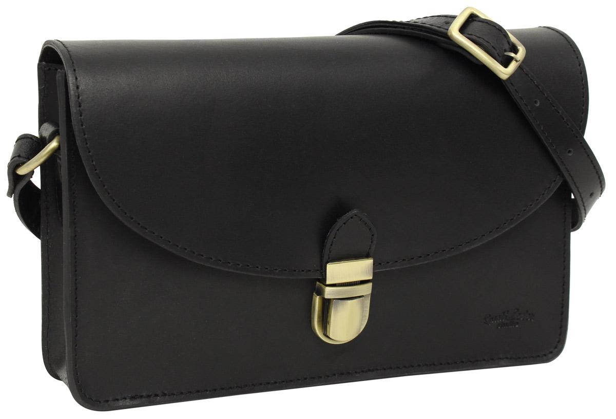 """4ca7bfd73ad4c Handtasche """"Zoey"""" in schwarz aus Leder im Vintage-Stil"""