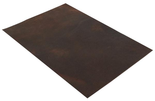 Pezzo di pelle marrone in formato A5