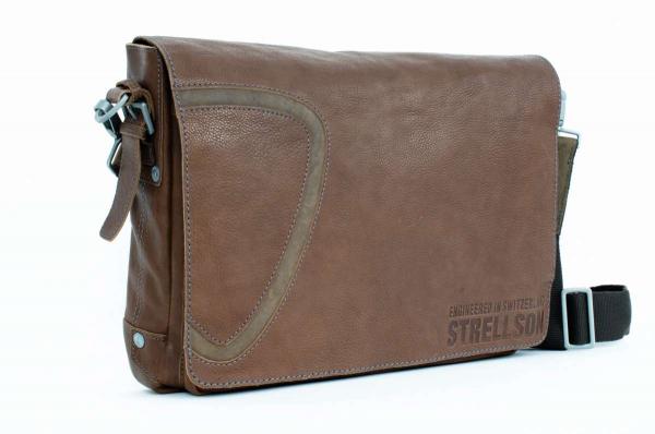 Strellson Leder-Umhängetasche in braun