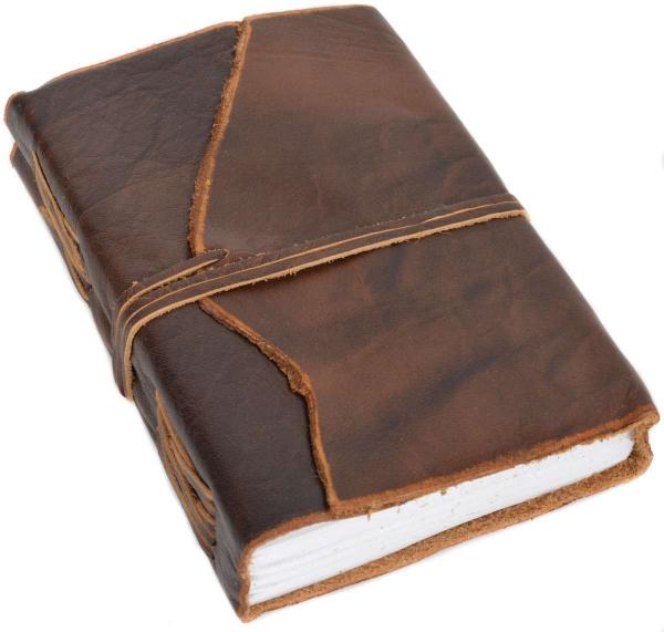 Braunes Büffelleder Notizbuch