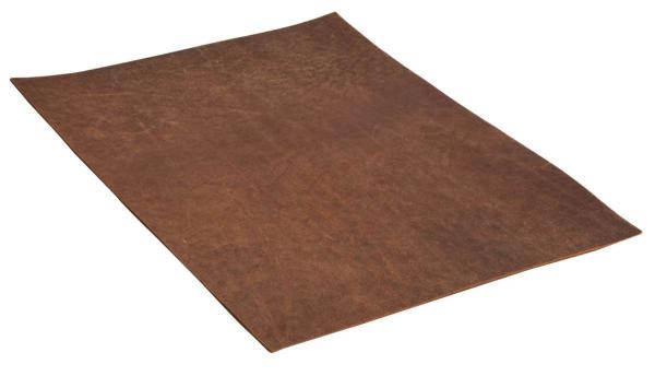 Braunes Büffelleder-Stück in Größe A4
