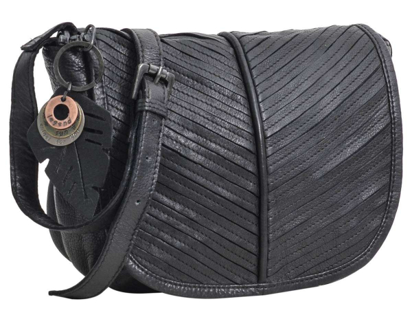 Legend Leder-Handtasche in schwarz