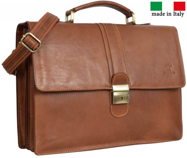Hochwertige Rindsleder Businesstasche in braun