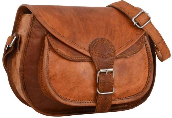 Halbrunde Ziegenleder Handtasche