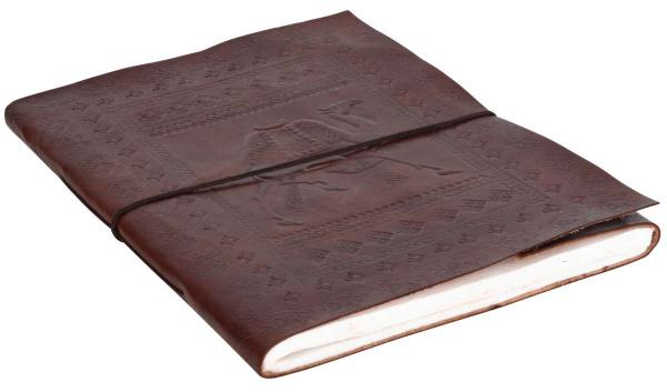 Leder-Notizbuch mit Kamel-Motiv DIN B4
