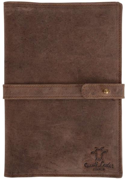 Dokumenten-Tablethülle aus Leder in dunkelbraun