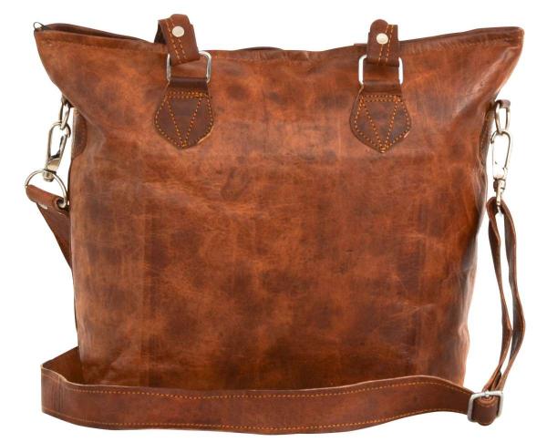 Outlet Handtasche - faltiges Leder - gebrauchter Zustand - siehe Video