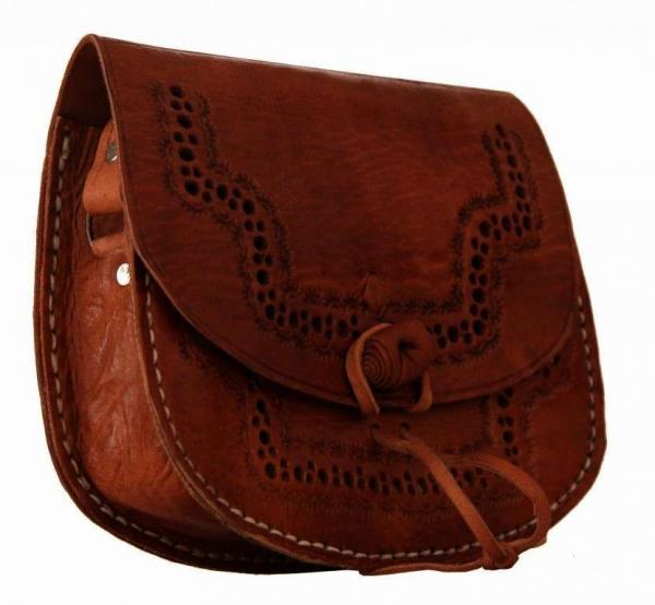 Braune Rindsleder-Handtasche