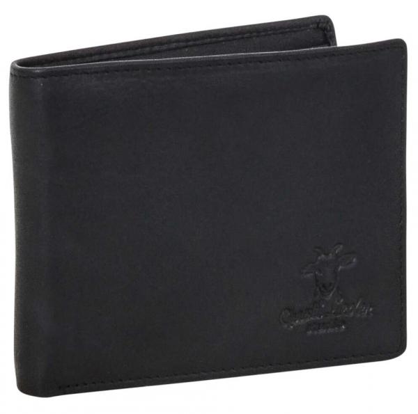 Schwarze Vintage-Geldbörse für Herren