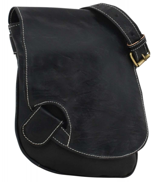 Extravagante Leder-Handtasche in schwarz