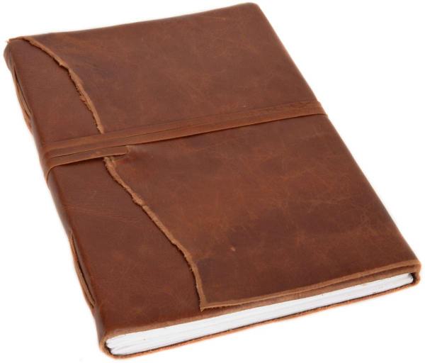Büffelleder Notizbuch mit Lederband
