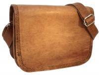 ed806d3bede9f Handtasche Umhängetasche Ledertasche Vintage Braun Leder. Gusti Leder  nature. 24