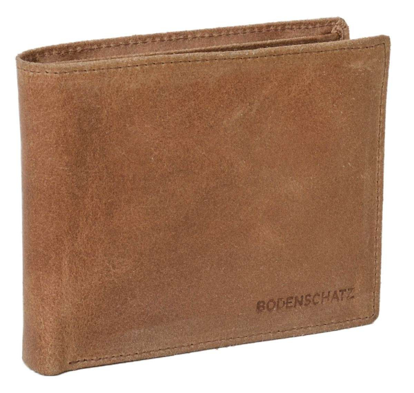 Bodenschatz Leder-Geldbörse in braun