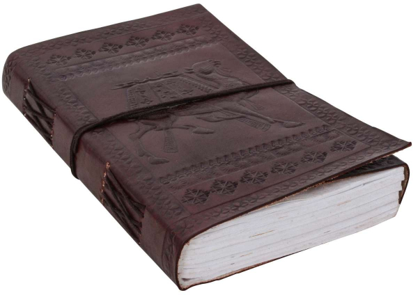 A5 Lederbuch mit Kamelprägung