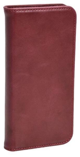 Aufklappbare Leder-Schutzhülle in rot für Samsung Galaxy S8