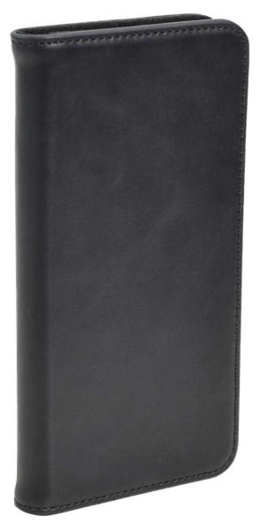 Aufklappbare Leder-Hülle in braun für HTC One A9