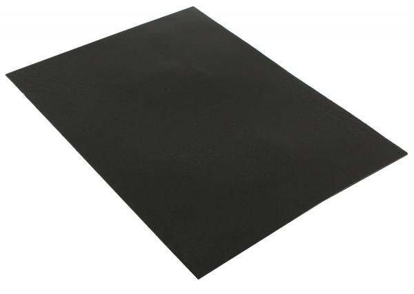 Schwarz Lederstück aus Büffeleder