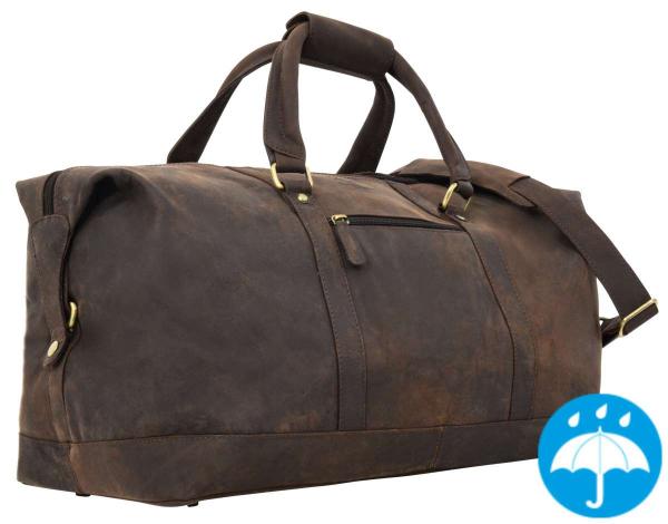 Robuste Leder-Reisetasche in dunkelbraun