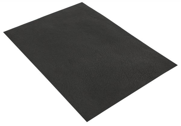 Schwarz Lederstück aus Ziegenleder