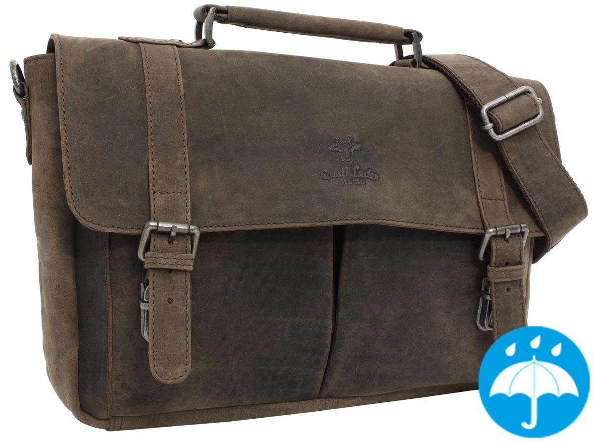 e5d3def19d Borsa ventiquattrore Borsa a tracolla borsa da lavoro 24ore in pelle  marrone in stile vintage - Geoffrey