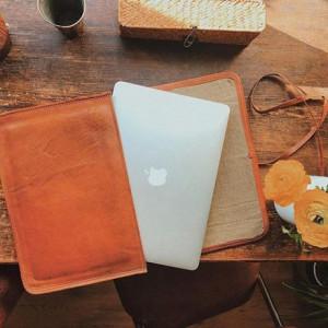 "Gusti Pelle /'Chris/' Borsa per Laptop 15,6/"" Borsa Notebook Borsa in pelle guscio in pelle"