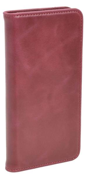Aufklappbare Leder-Hülle in rot für HTC One A9