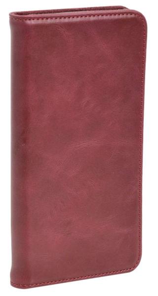 Aufklappbare Leder-Hülle in rot für HTC One M10