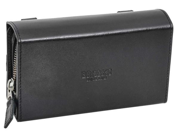 Brooks Leder-Satteltasche in schwarz