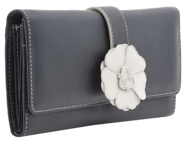 Bodenschatz Geldbörse mit Schmuckblume für Damen