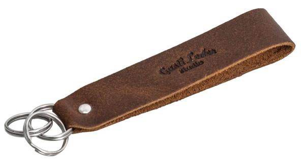 Brauner Leder-Schlüsselanhänger