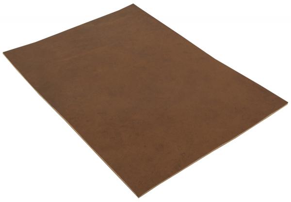 Pezzo di pelle marrone scuro di vacchetta in formato A5