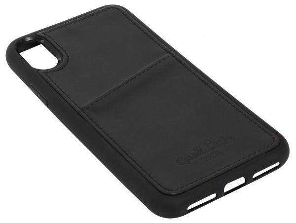 Leder-Case in schwarz für iPhone X