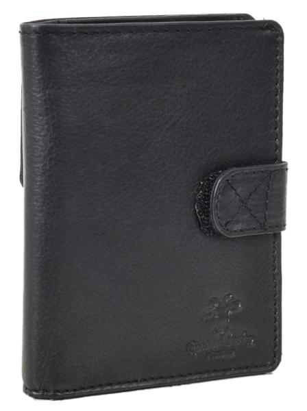 Leder-Festplattentasche in schwarz