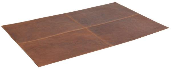 Leder-Schreibtischunterlage in braun