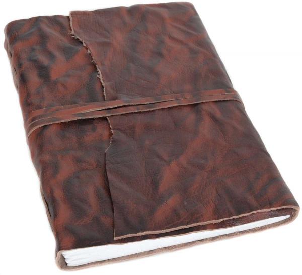 A4 Notizbuch mit braunem Büffelleder-Einband