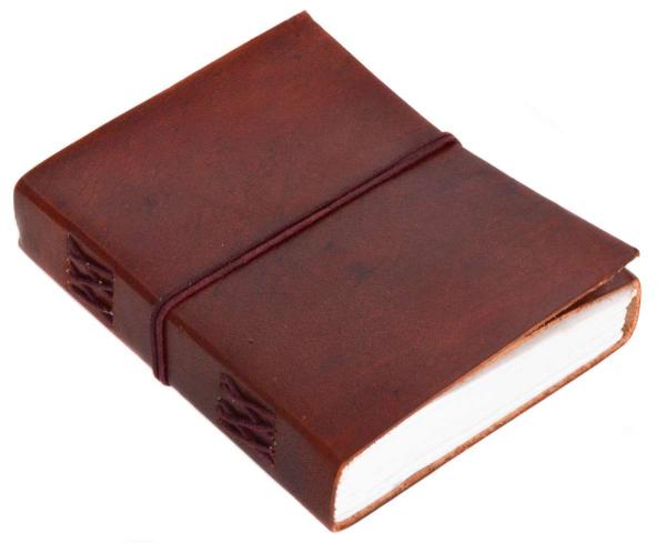Kleines braunes Rindsleder Notizbuch