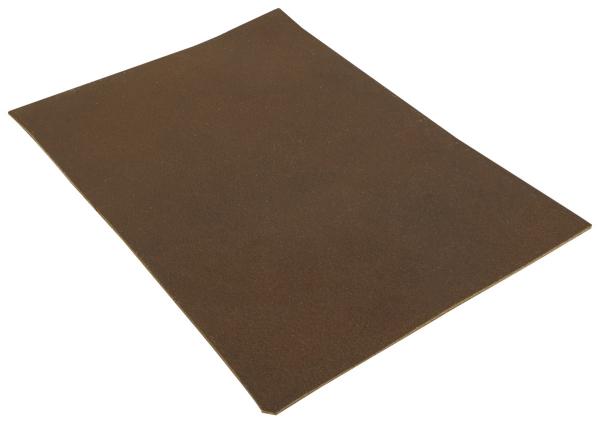 Braun Lederstück aus Rindsleder