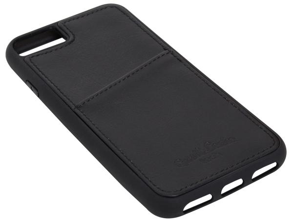 Leder-Case in schwarz für iPhone 8
