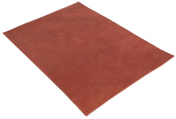 Pièce de cuir de buffle rouge